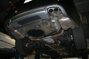 Audi S6 exhaust install.